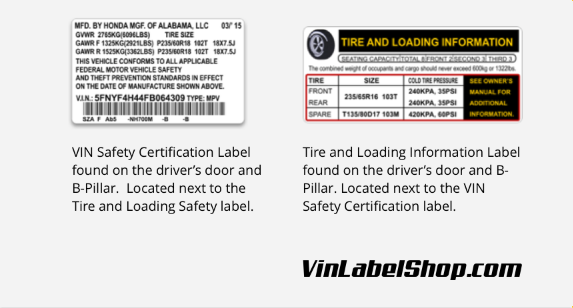 Replacement vin label