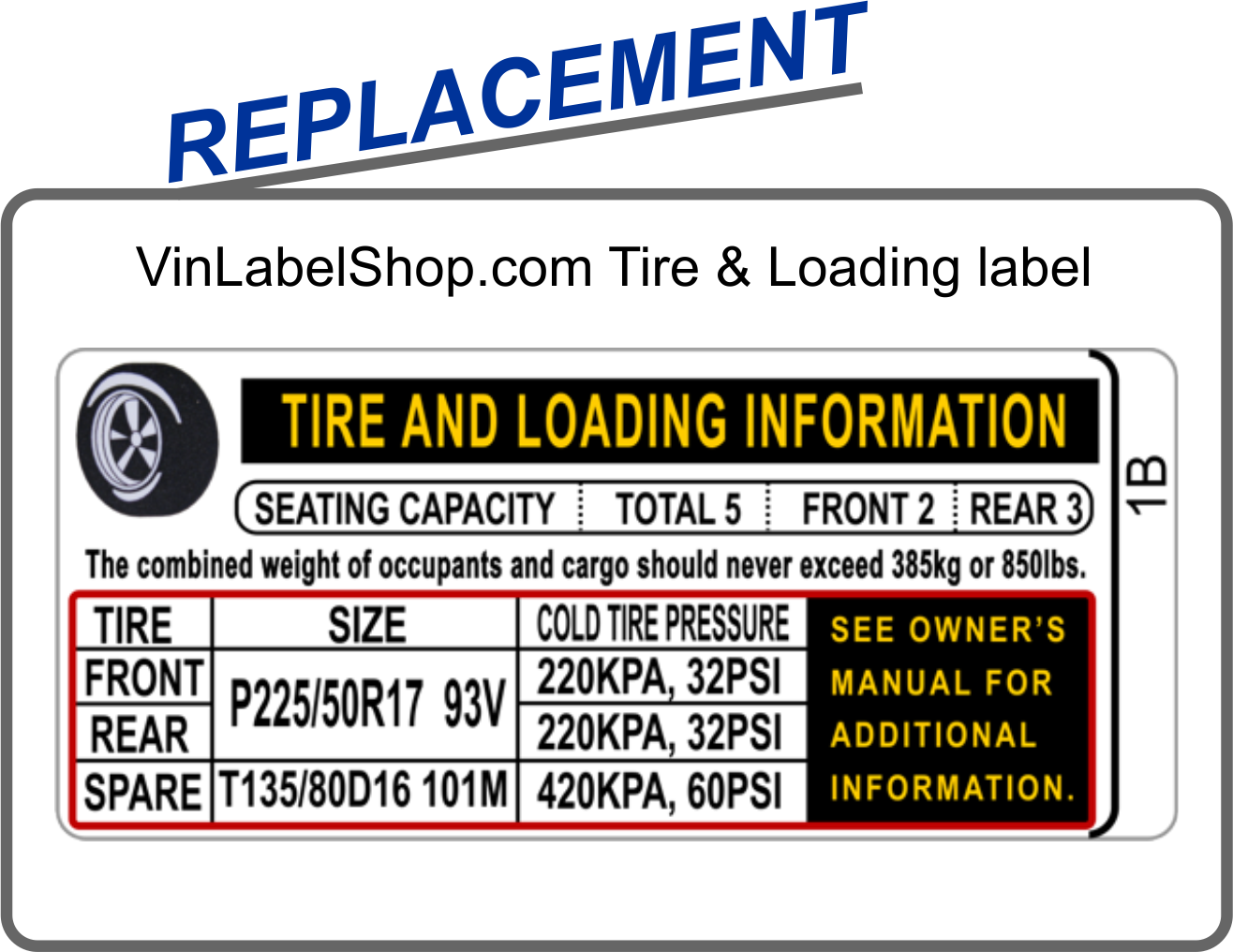 Replacement vin labels for the auto body collision repair industry